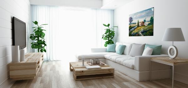 Gemälde ziert Wohnzimmer