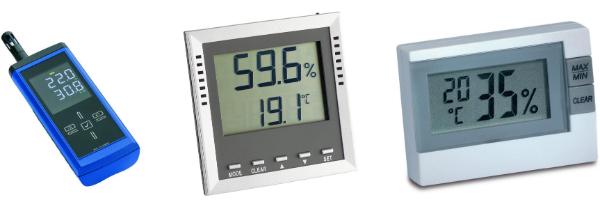 Messgeraete zur Messung von Feuchte und Temperatur