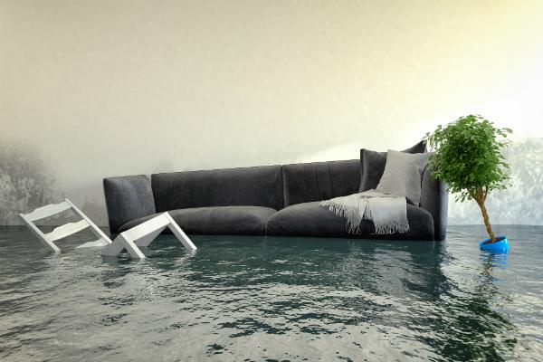 Ueberschwemmtes Wohnzimmer