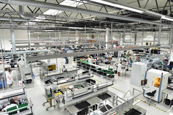 Fabrik fuer die Montage von elektronischen Komponenten