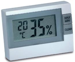 Thermo-Hygrometer fuers Schlafzimmer zum Messen von Luftfeuchte und Temperatur