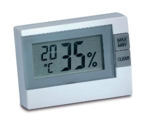 Luftfeuchtigkeit in Wohnraeumen messen mit dem Thermo-Hygrometer 9025
