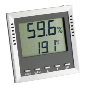 Luftfeuchtigkeit in Wohnraeumen messen mit dem Thermo-Hygrometer 9026