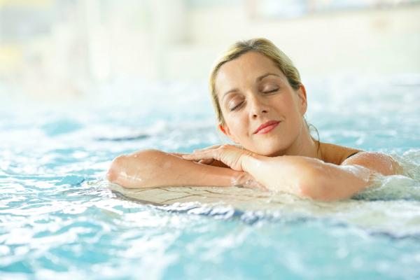 Gefuehlte Temperatur im Schwimmbad