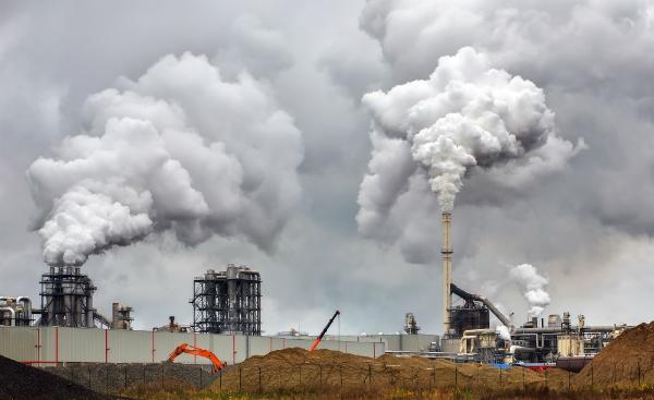 Luftverschmutzung durch Fabriken