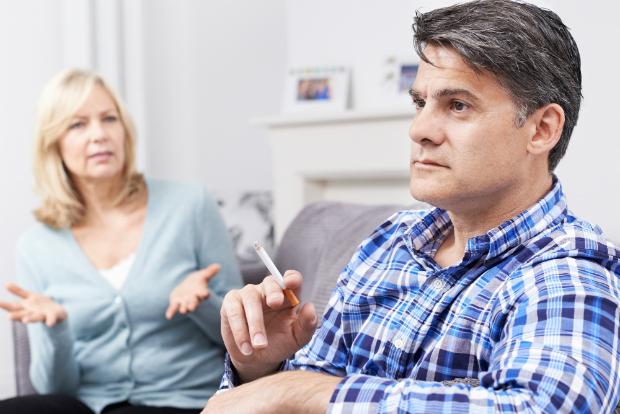 Rauchen in der Wohnung mindert die Luftqaulität