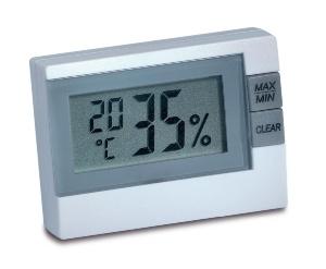 Thermo-Hygrometer 9025 mit LCD-Anzeige fuer relative Luftfeuchte und Temperatur