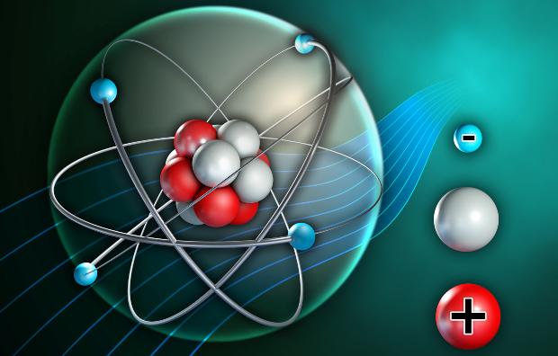 Grafische Darstellung eines Atoms