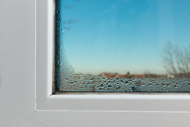 Kondensation am Fenster von innen