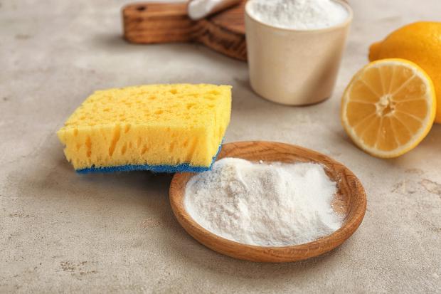 Backpulver, Zitrone und ein Schwamm - Schimmel auf Teppich entfernen mit Haushaltsmitteln