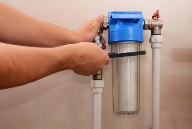 Filtersystem in der Wasserleitung zur Verhinderung von Kalkablagerungen
