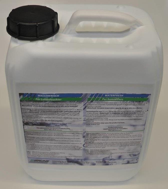 Flasche mit Hygienemittel für Luftentfeuchter